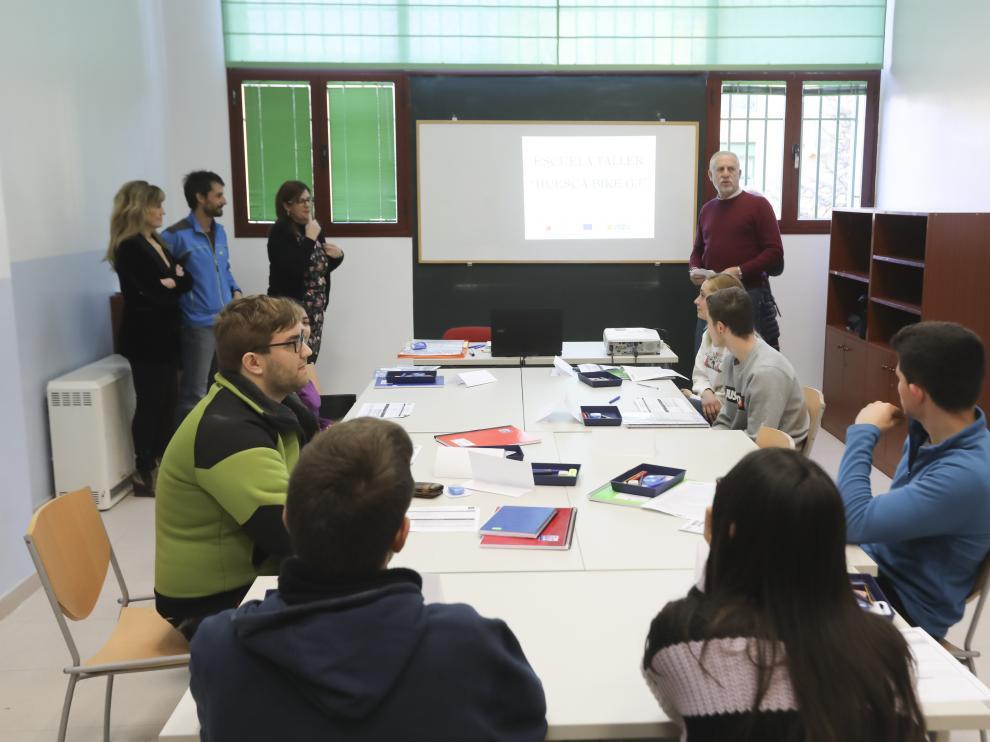 La escuela taller ha arrancado hoy en Huesca y la formación durará un año