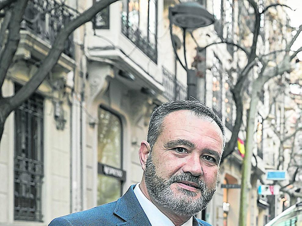 Alfredo Quílez, en la calle de Costa.