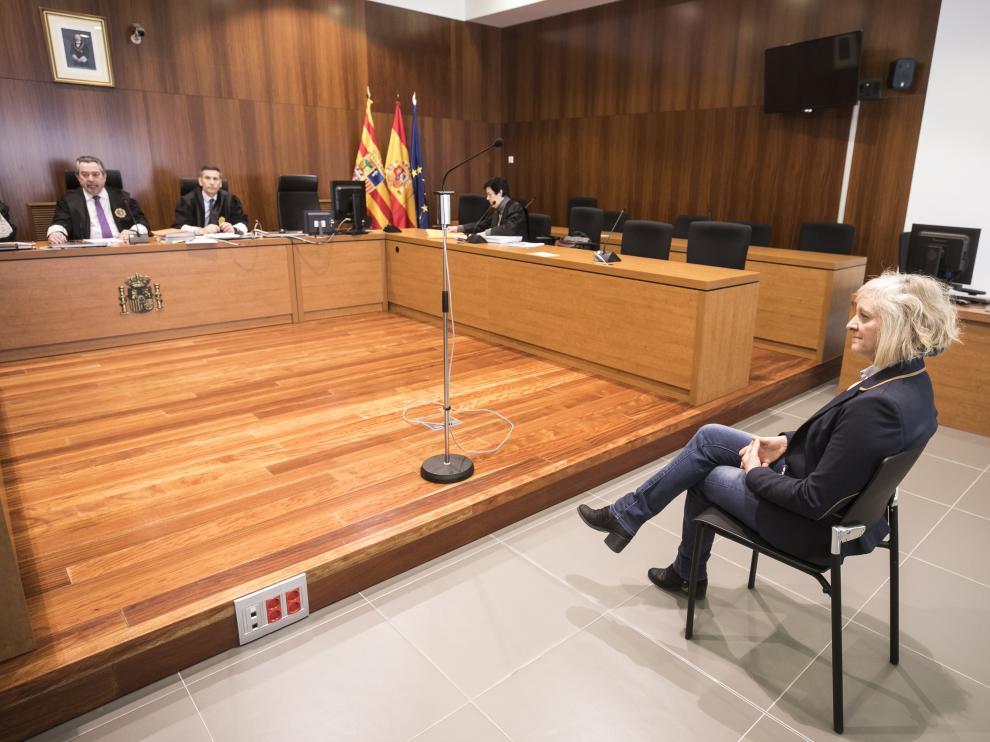 Rosario Cabrera durante el juicio que se celebró en la Audiencia de Zaragoza la semana pasada.