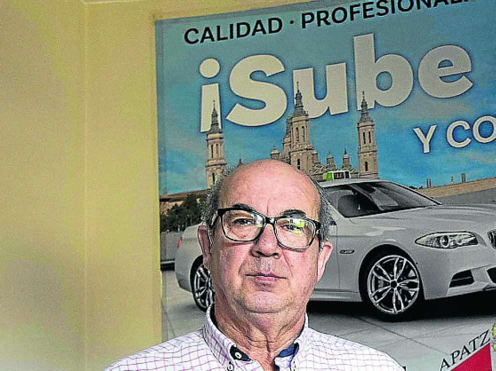 Mariano Morón,en la cooperativa de taxis.
