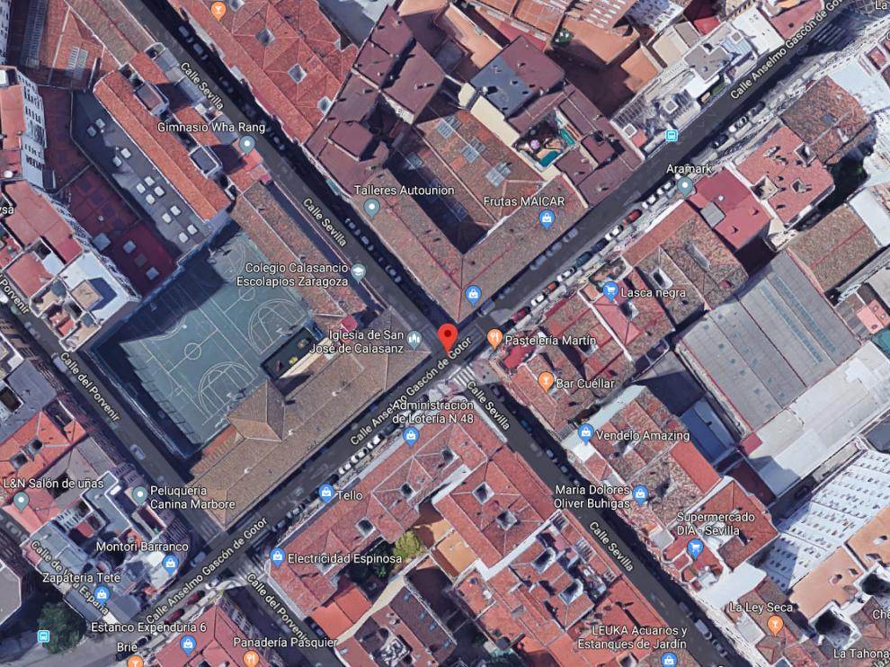 El suceso tuvo lugar en la calle de Gascón de Gotor con la calle de Sevilla.