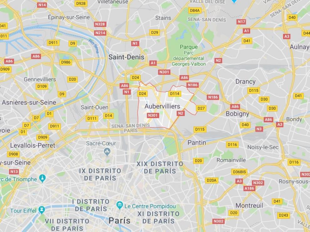 Los hechos ocurrieron hacia las 6.00 hora local (5.00 GMT) en la ciudad de Aubervilliers, limítrofe con París.