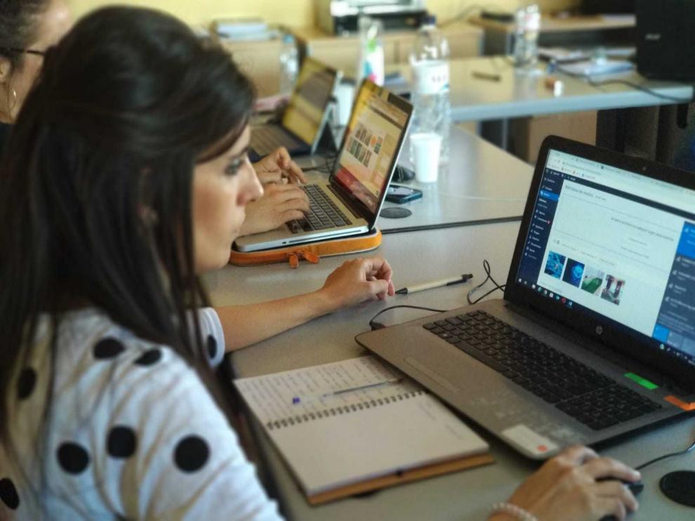 Diez jóvenes participaron en el taller en Grañén.