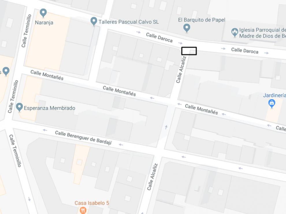 El accidente ocurrió por la mañana en la calle alcañiz