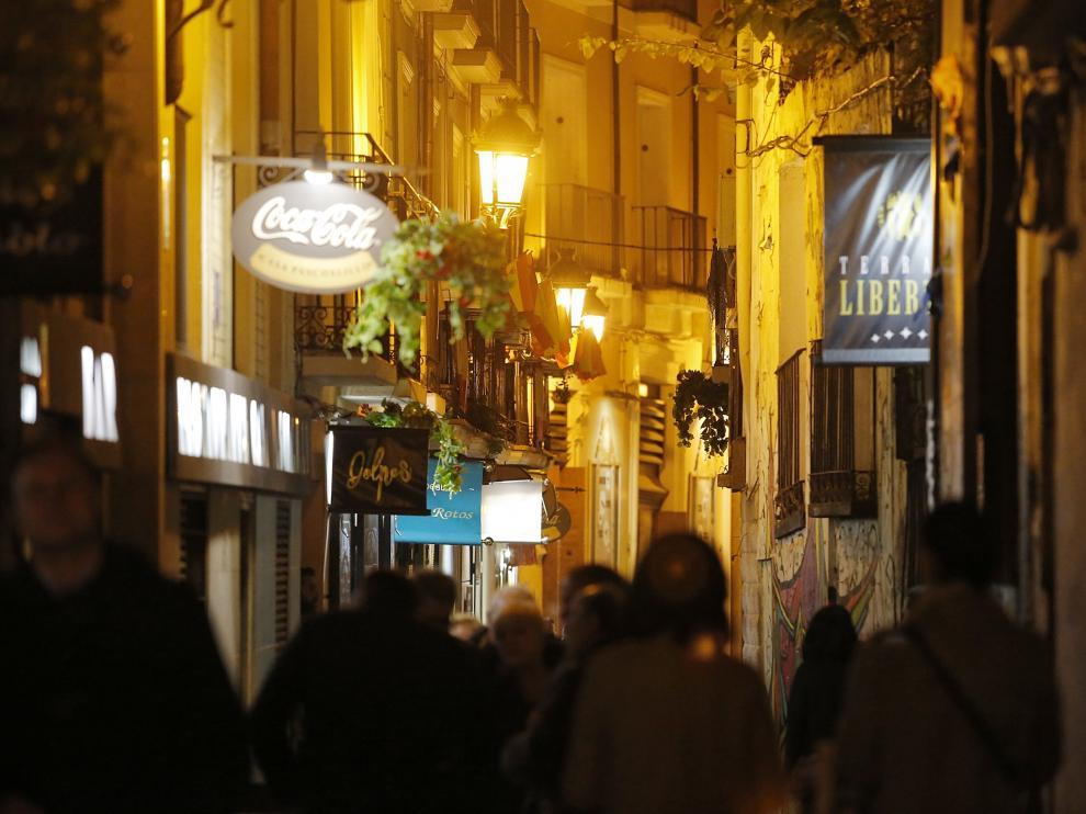 Las calles del Tubo, entre las más expuestas de la ciudad al ruido del ocio nocturno.