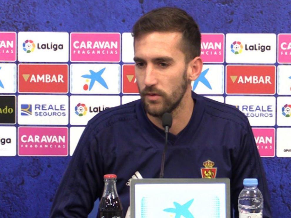 Alberto Benito, este martes en la sala de prensa de la Ciudad Deportiva.