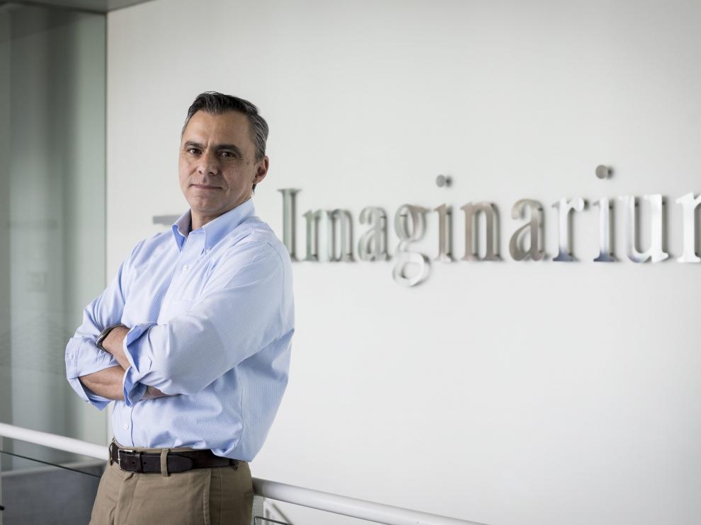 El director general de Imaginarium en las instalaciones de Plaza
