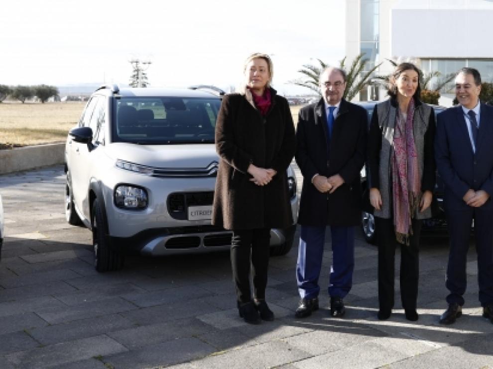 Javier Lambán acompañó a la ministra Maroto en su visita a la planta de Opel/PSA.