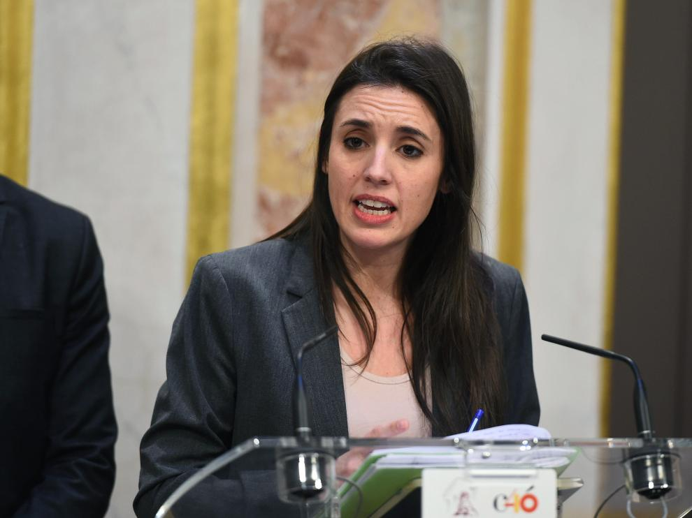 La portavoz de Unidos Podemos en el Congreso, Irene Montero.