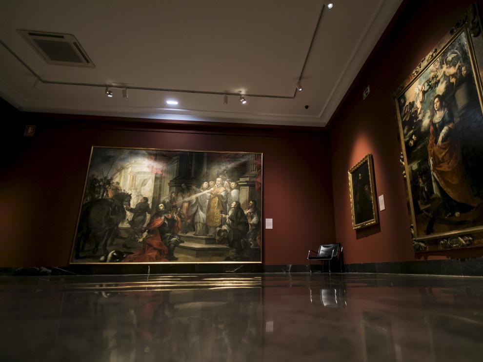 Sala del Museo de Zaragoza dedicada a la pintura barroca en la que se ha presentado la programación.
