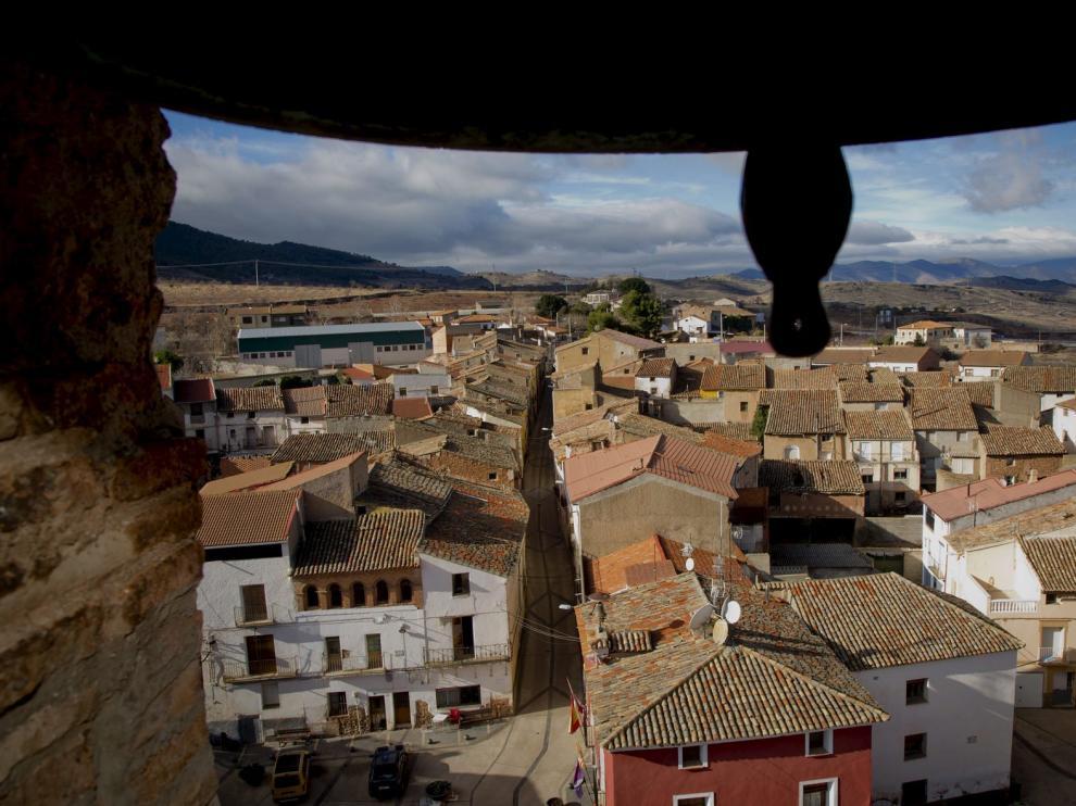 Una vista de  la localidad de El Frasno, en la comarca Comunidad de Calatayud.