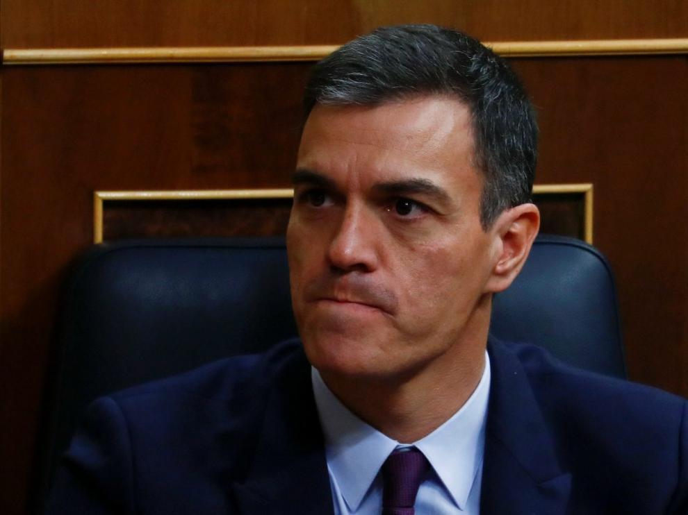 Pedro Sánchez en el Pleno del debate de las enmiendas a la totalidad de los Presupuestos.