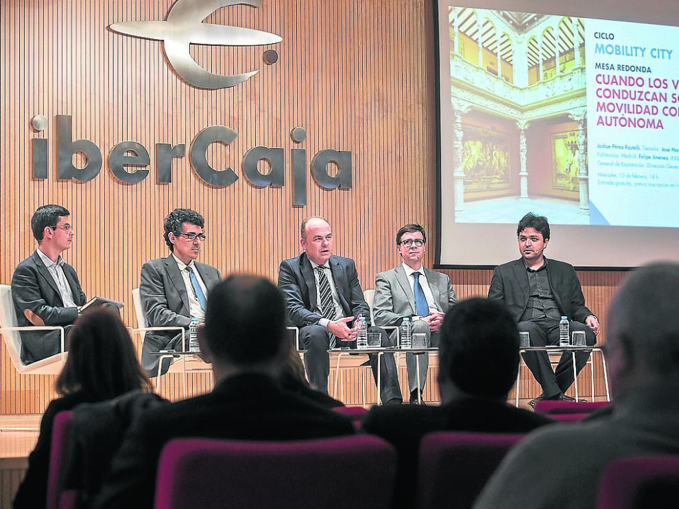 Javier de las Heras, Felipe Jiménez, Jaime Armengol, José Manuel Vassallo y Joshue Pérez, este miércoles.