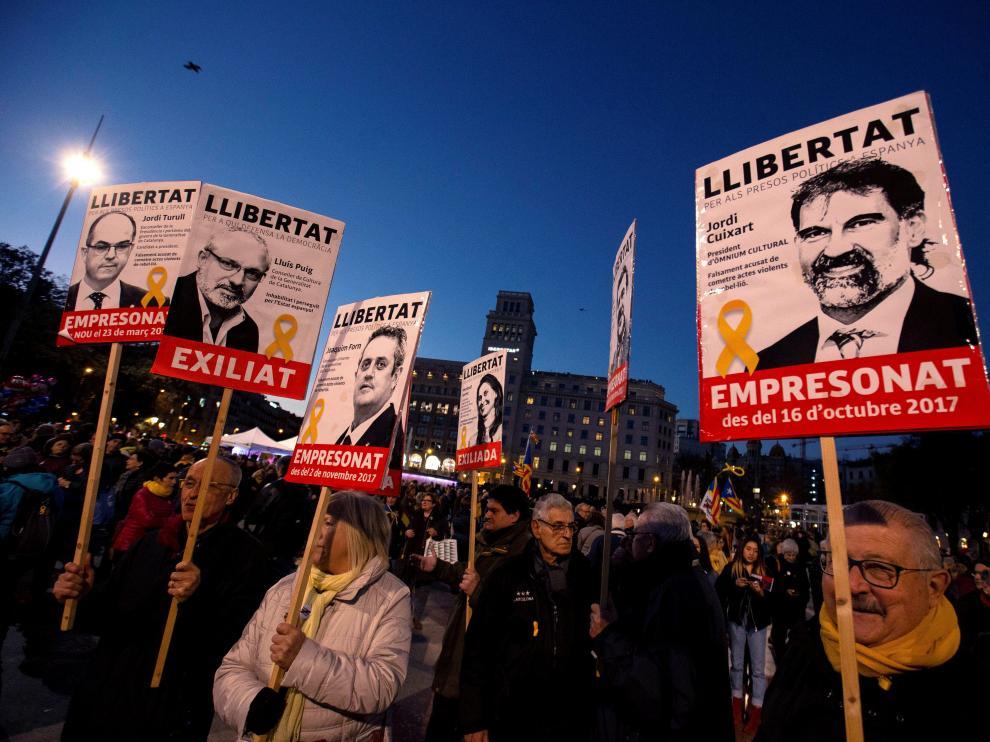 Protesta contra el juicio del 'procés'