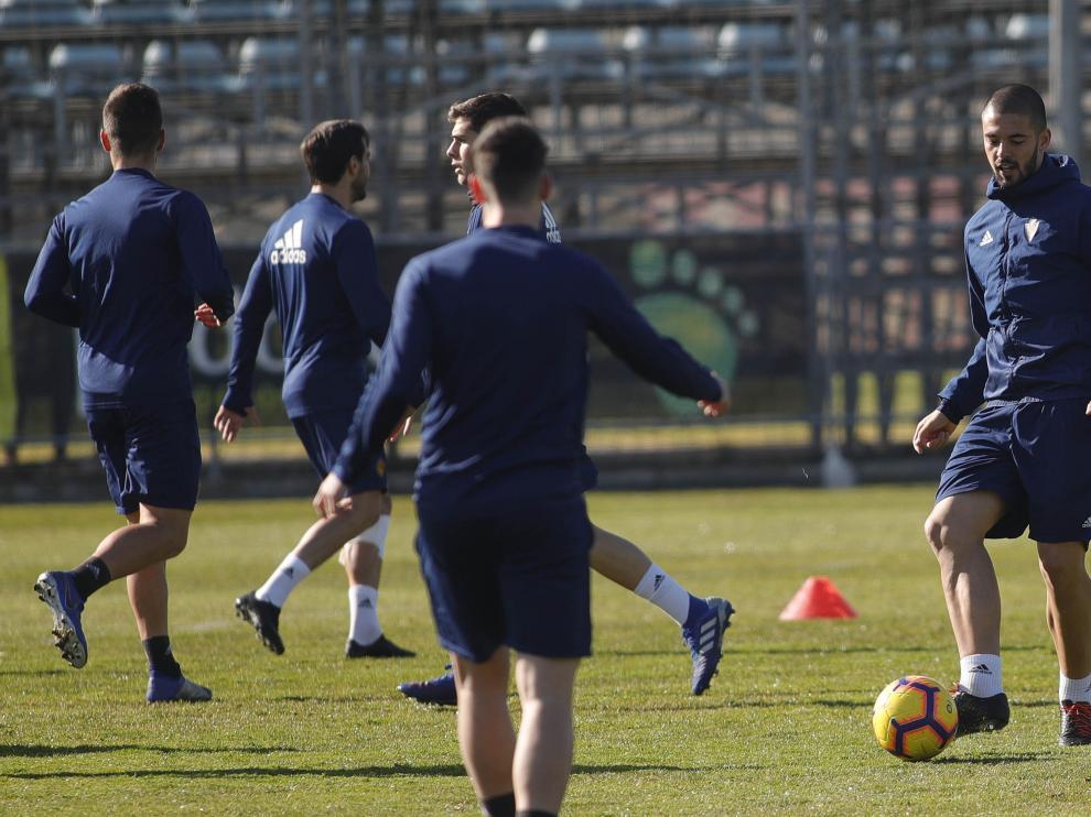 El Real Zaragoza prepara el partido frente al Albacete.