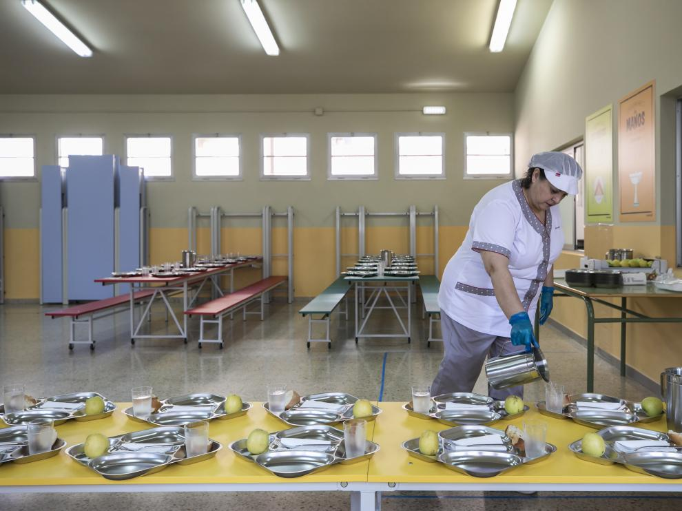 Nuevo comedor del colegio Emilio Moreno Calvete de Zaragoza inaugurado hace unos días.