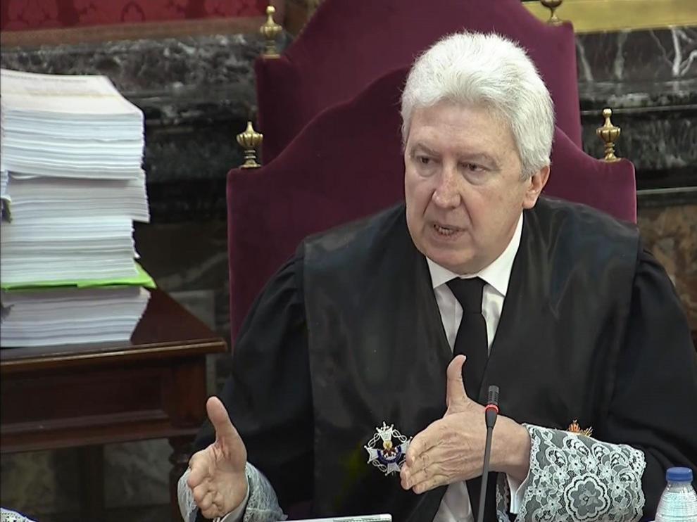 El fiscal Fidel Cadena durante el juicio.