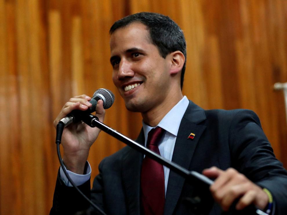 El líder de la oposición venezolana, Juan Guaidó.
