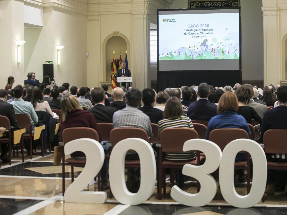 Olona, durante la presentación de la nueva estrategia contra el cambio climático
