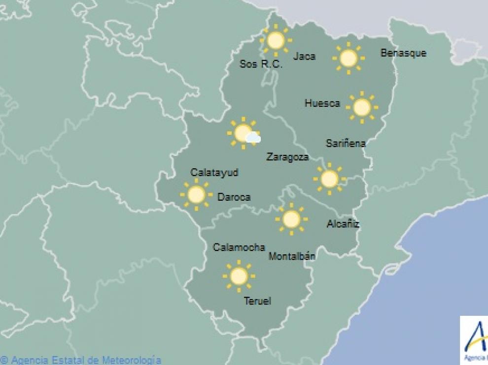 El tiempo en Aragón este miércoles, 13 de febrero.