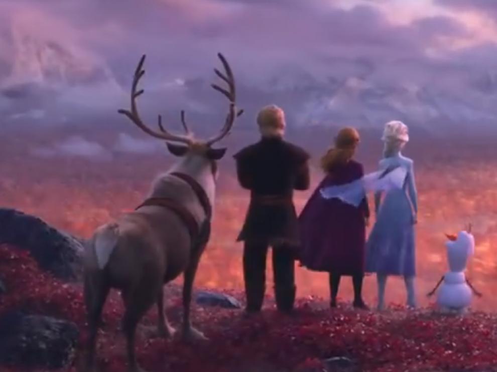 Fotograma del tráiler de la película 'Frozen 2'.