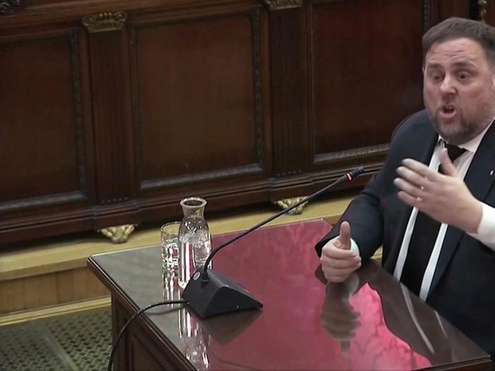 Oriol Junqueras, durante su declaración