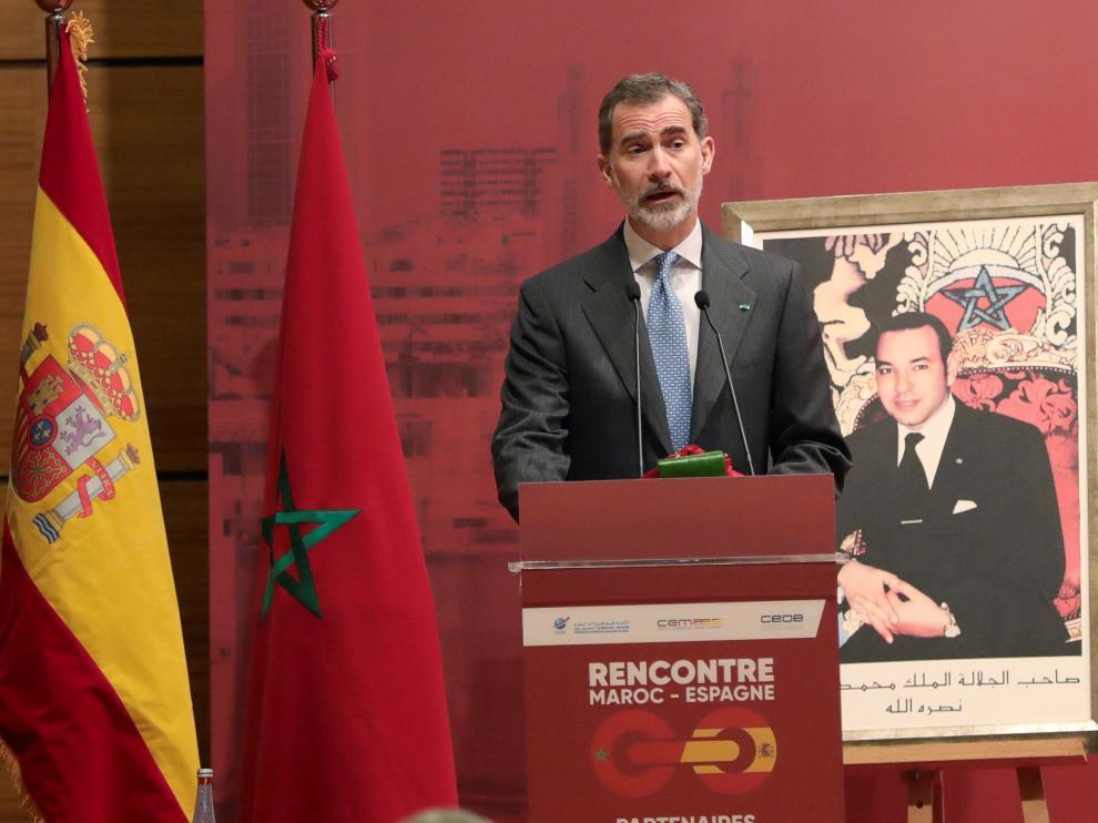 El Rey Felipe VI, en Marruecos.