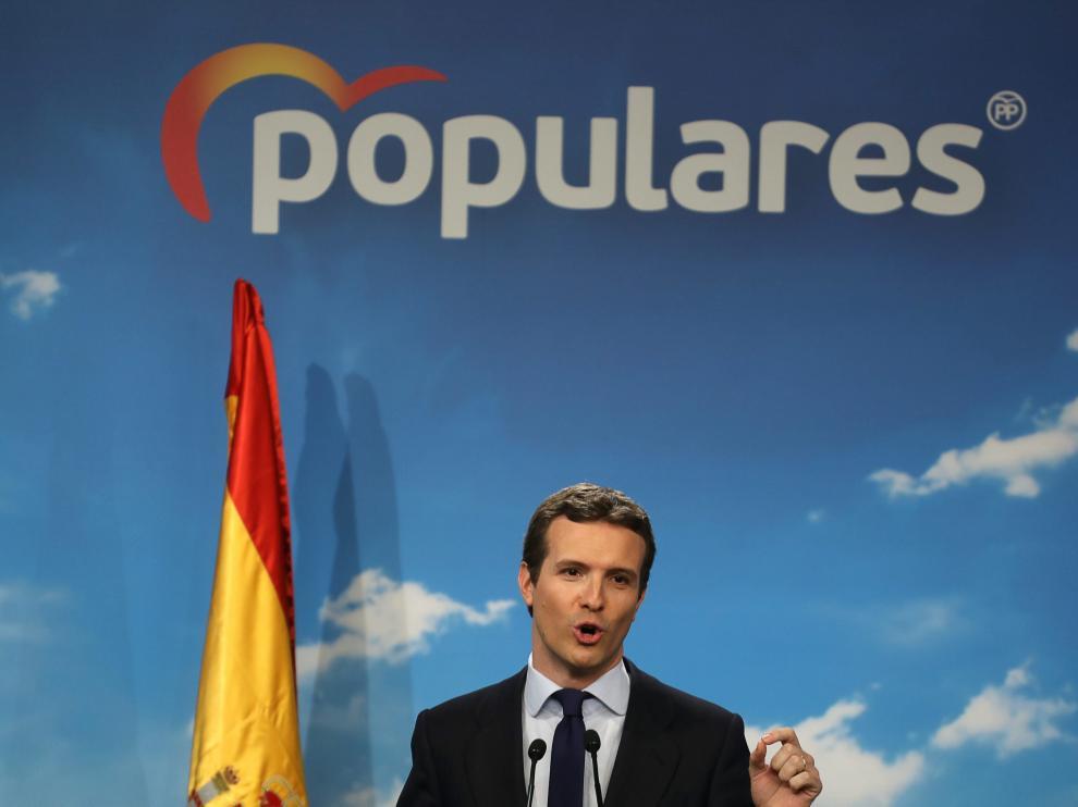 El líder del PP, Pablo Casado, en imagen de archivo.