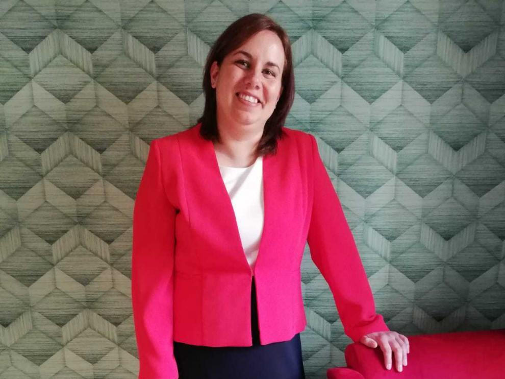 Beatriz Albiac, presidenta de la Asociación de Prematuros de Aragón (Araprem).