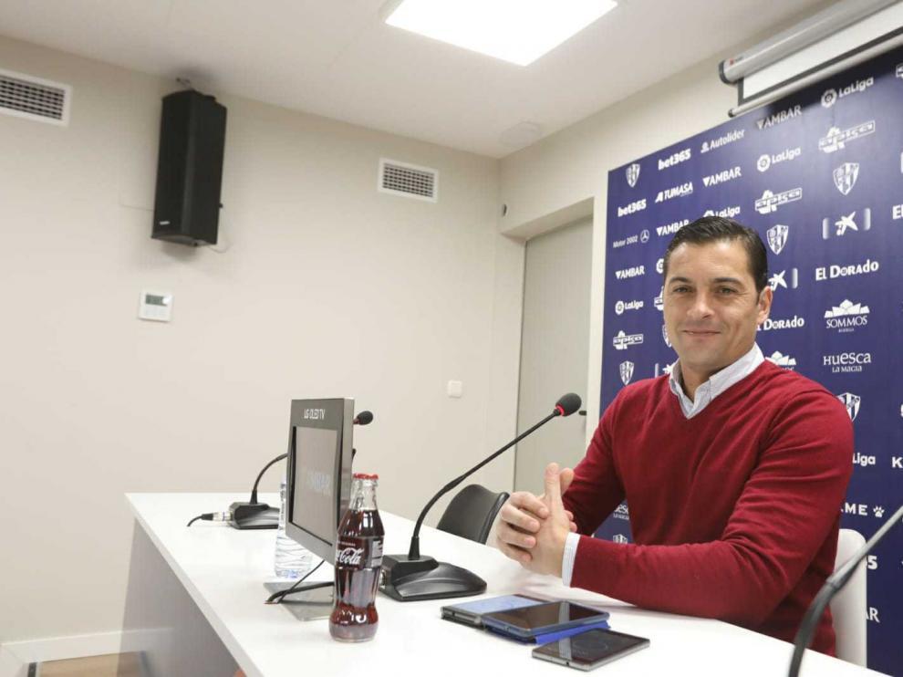 Francisco Rodríguez, en la rueda de prensa previa al partido con el Athletic.
