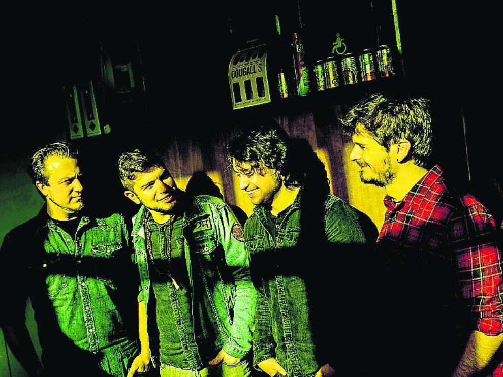 Los cuatro integrantes de The Kleejoss Band.