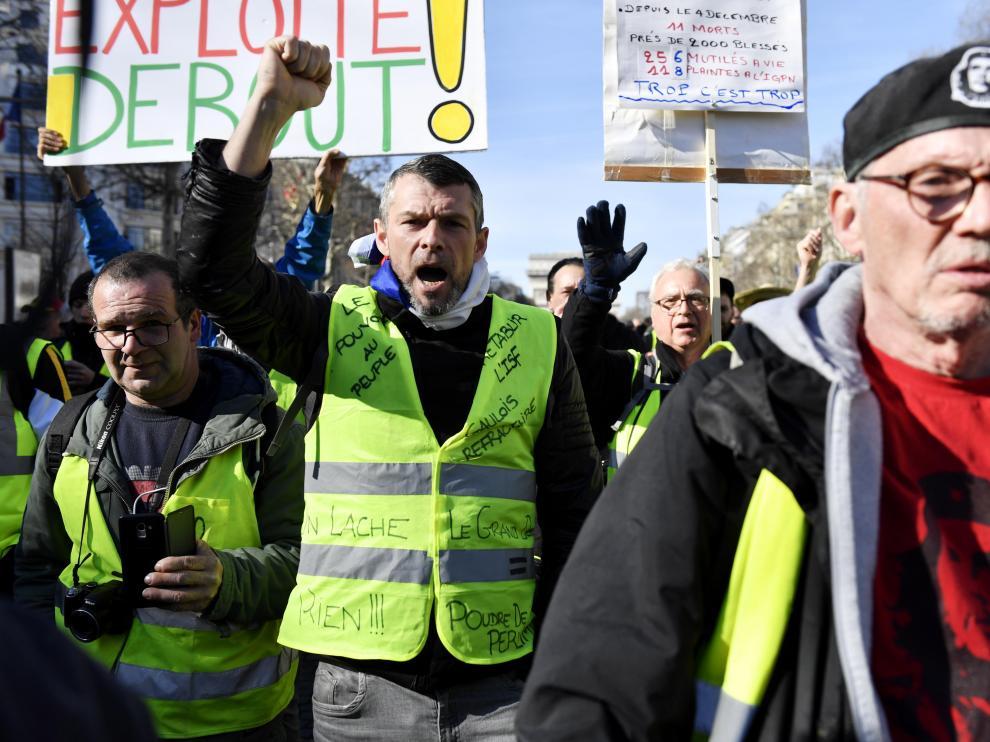 Movilización de los 'chalecos amarillos' en París.