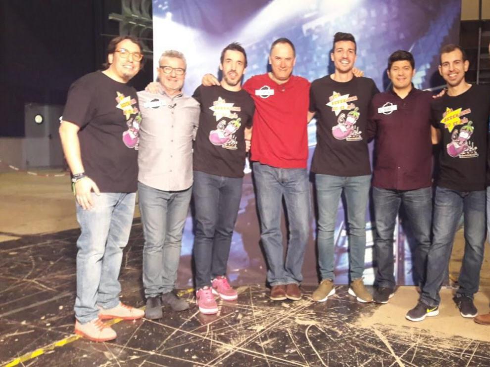 Roberto Morante, Ignacio Villacampa y los hermanos Gabriel y Héctor Gutiérrez, bajo el nombre de 'Esta berenjena no es mía', protagonizaron uno de los programas más sonados del concurso.