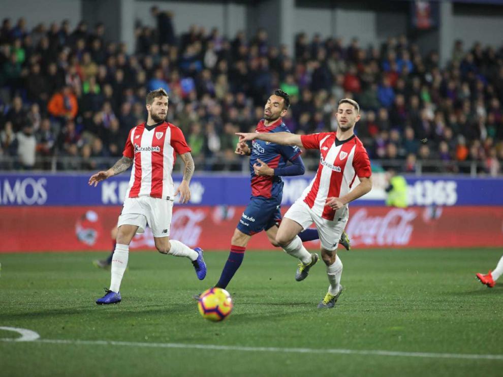 Partido de la SD Huesca contra el Athletic