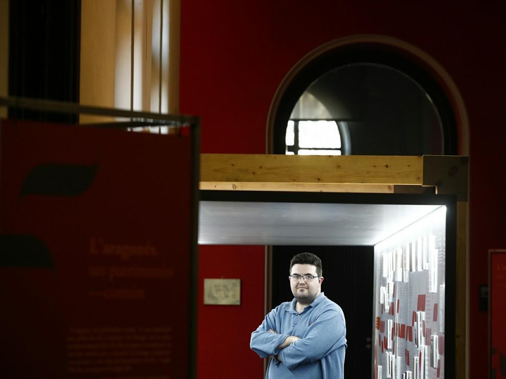 Ignacio Pantoja, este lunes en el Paraninfo Univeristario, en Zaragoza