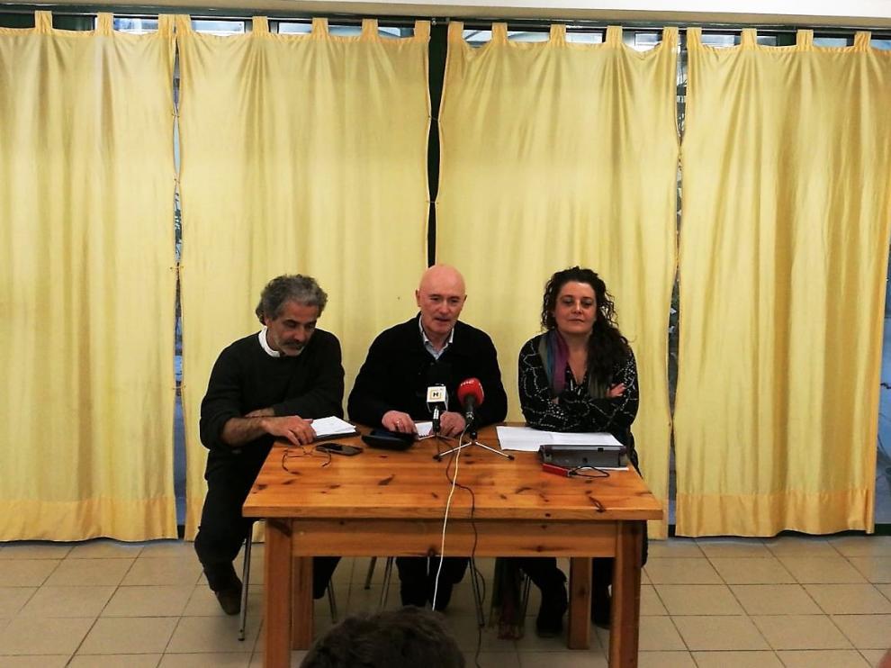 Juan Rodríguez Bielsa, Eduardo Marco y Natalia López han presentado las conclusiones de la asamblea.