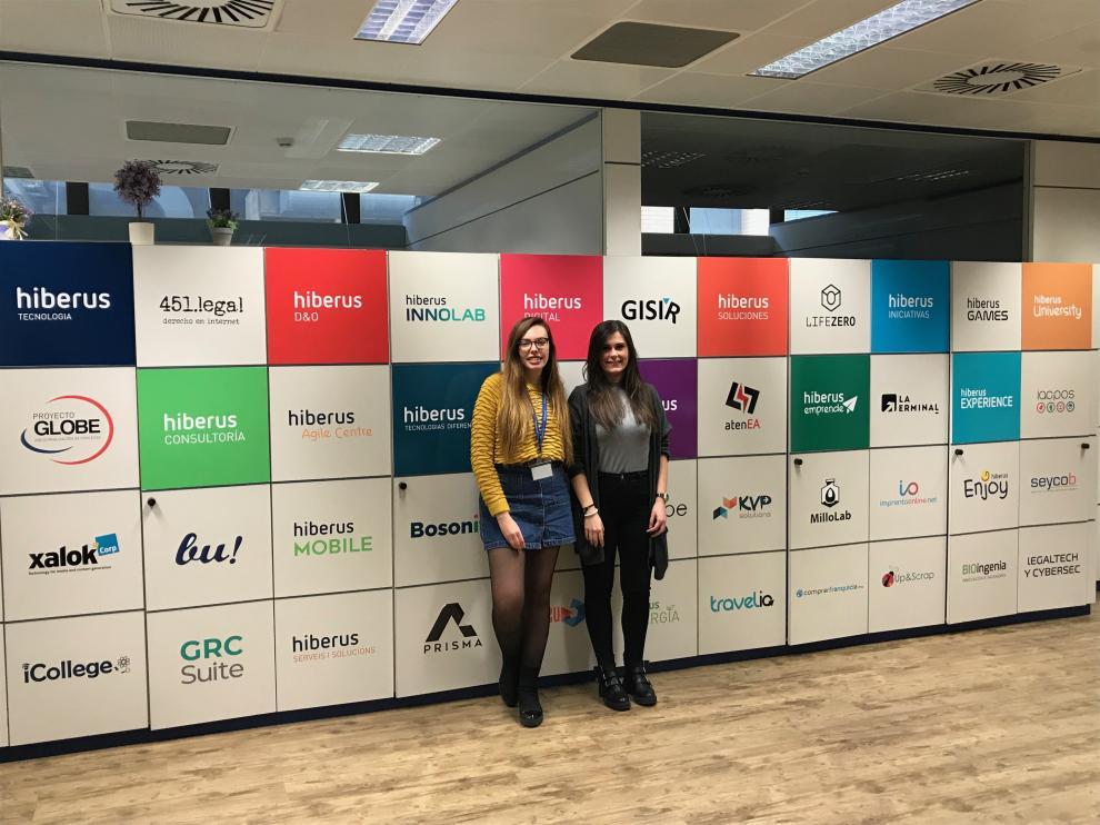 Julia Marco y Sara Martin, ganadoras de la primera y segunda edición de Talento Aragón Joven.