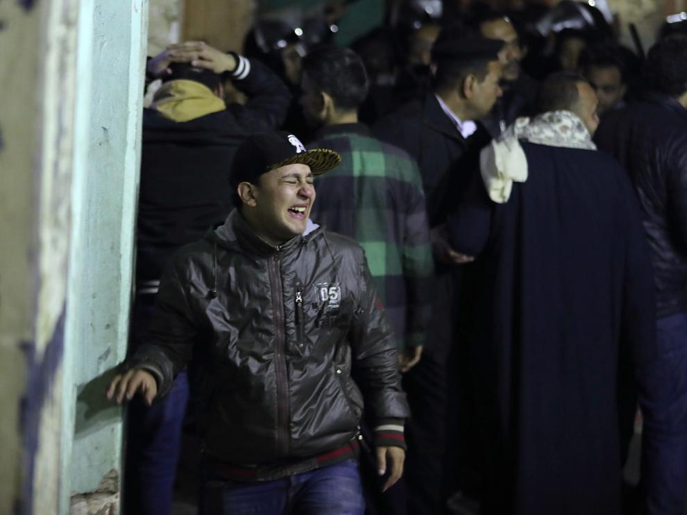 Momentos después en la zona del atentado en El Cairo.