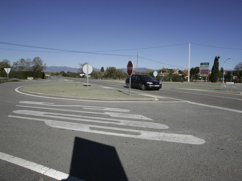 Carretera A-131 donde fue captado el motorista