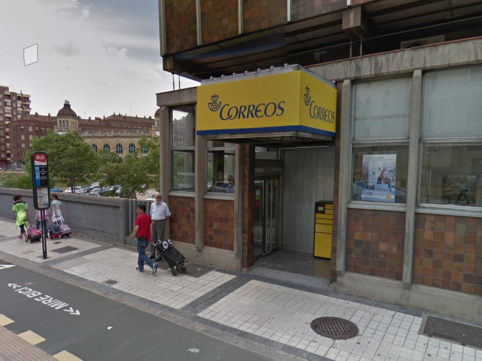 Una oficina de Correos, en Zaragoza.