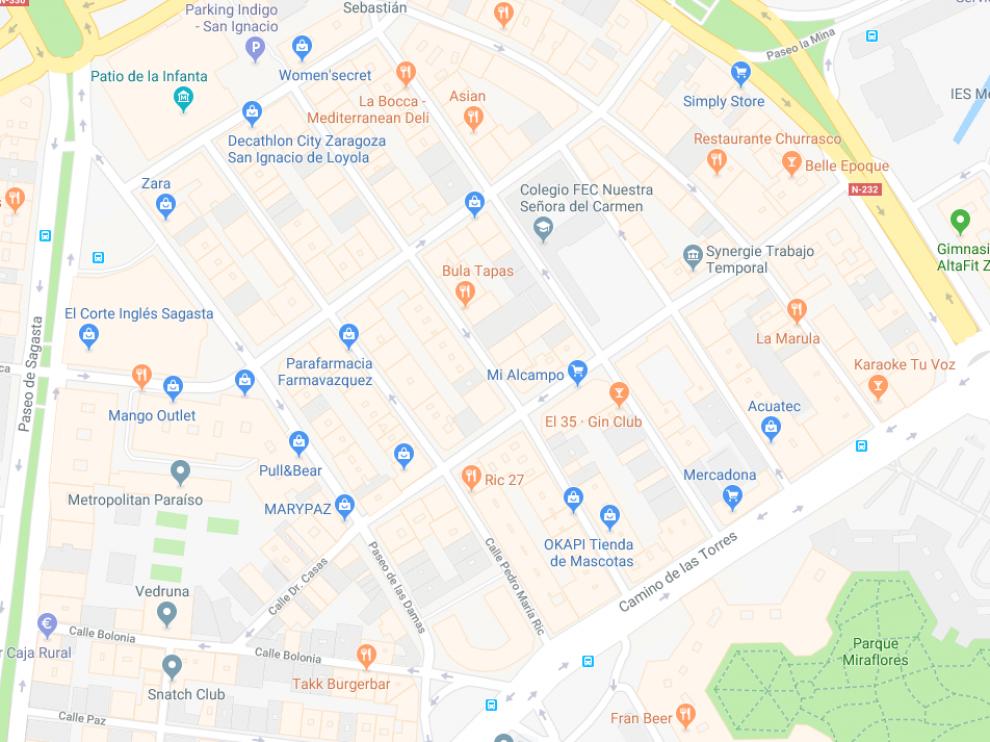 El suceso ha tenido lugar en un portal situado en la calle de Pedro María Ric.