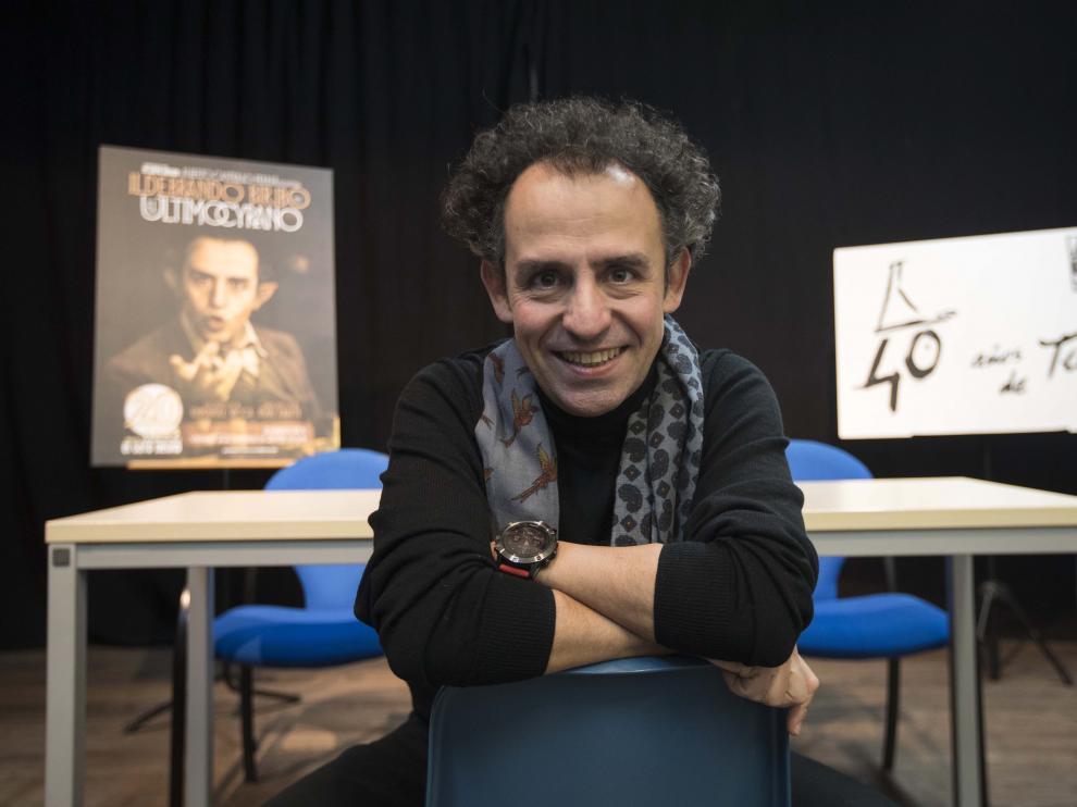 Alberto Castrillo-Ferrer, en la presentación de 'Ildebrando Biribó' esta mañana.