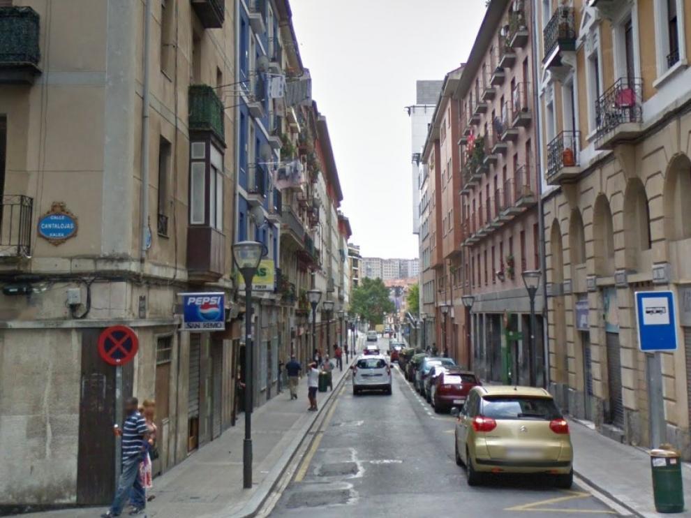 Barrio de Las Cortes, en Bilbao, donde fue capturada la mujer.