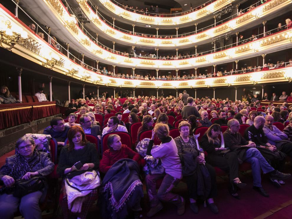 Imagen del patio de butacas durante un acto social celebrado hace unos días en el Teatro Principal de Zaragoza