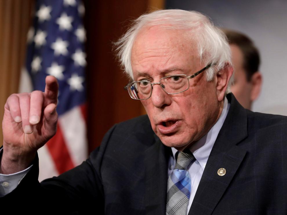 El senador independiente estadounidense Bernie Sanders.