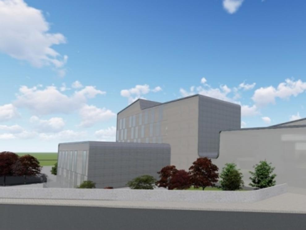 Simulación infográfica de la nueva residencia Luis Buñuel.