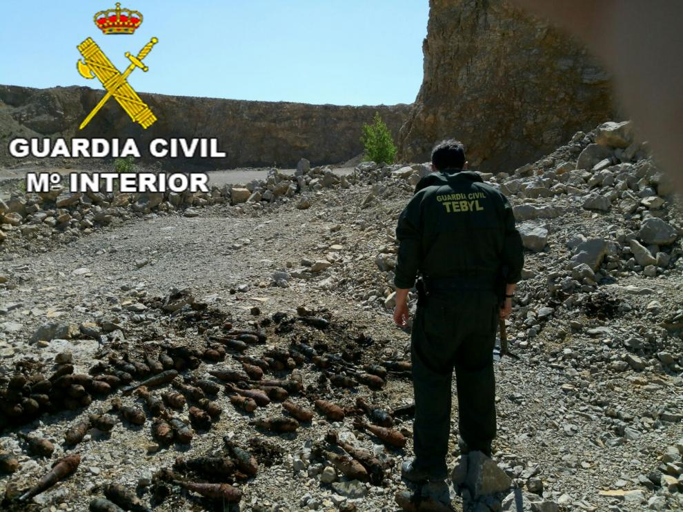 La Guardia Civil en una de sus intervenciones