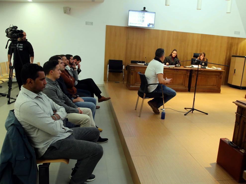 Juicio celebrado contra los militares en la Audiencia de Huesca