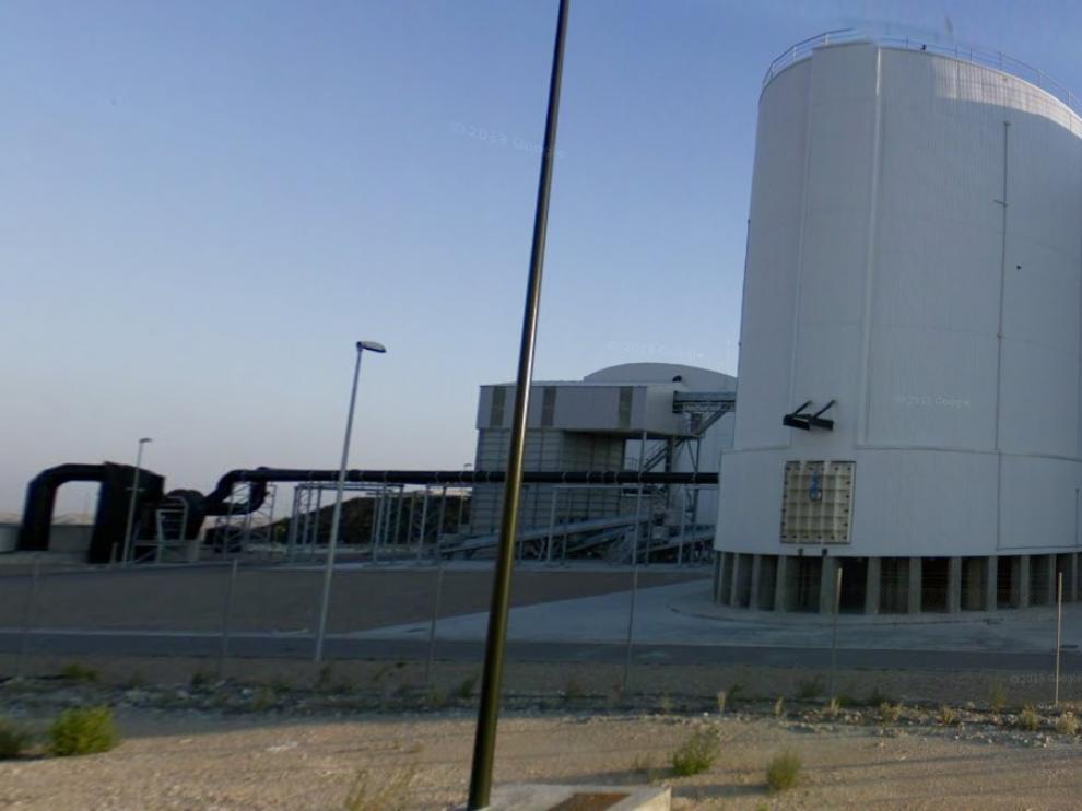 Centro de Tratamiento de Residuos Urbanos de Zaragoza, en Torrecilla de Valmadrid.