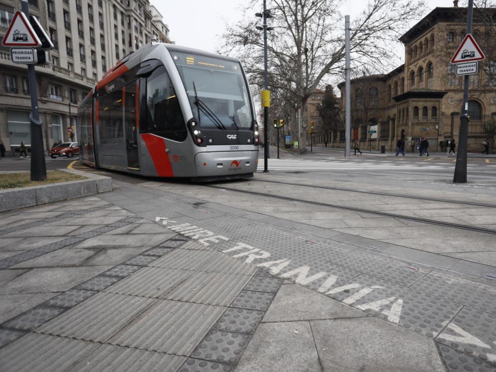 Accidente del tranvía en plaza Paraíso